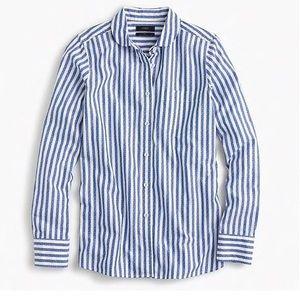 J. Crew boy shirt textured jacquard stripe 8